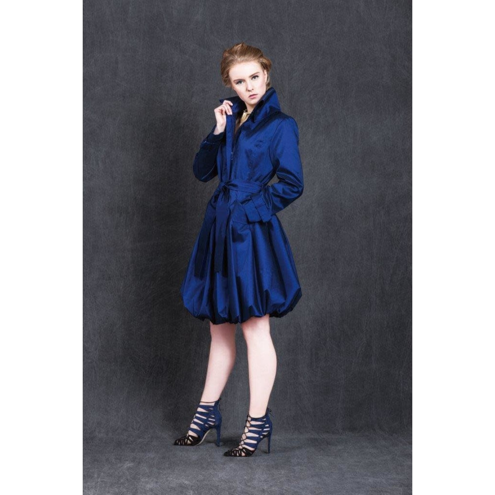 Samuel Dong Classic Bubble Coat in Midnight