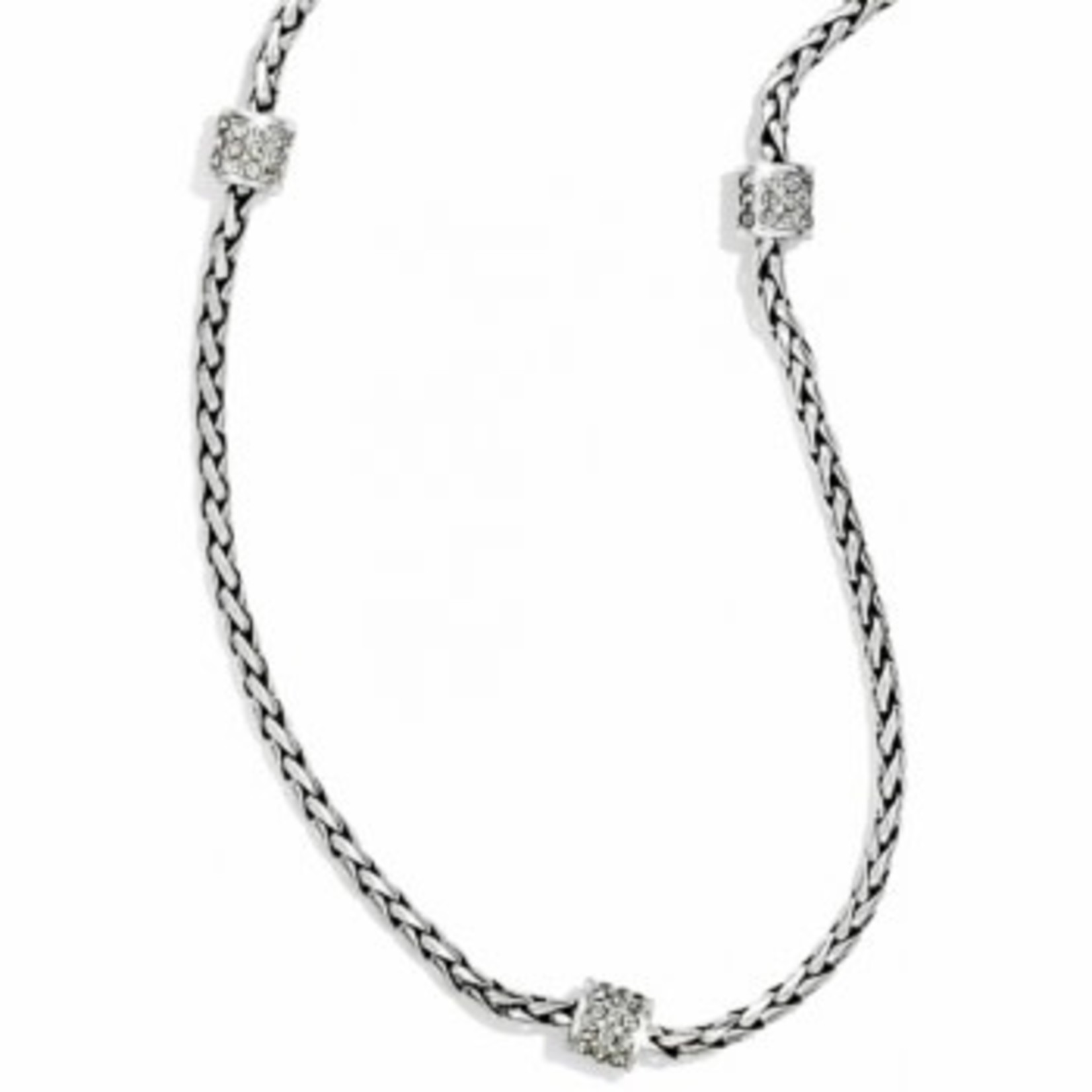 Brighton Meridian Petite Long Necklace Silver