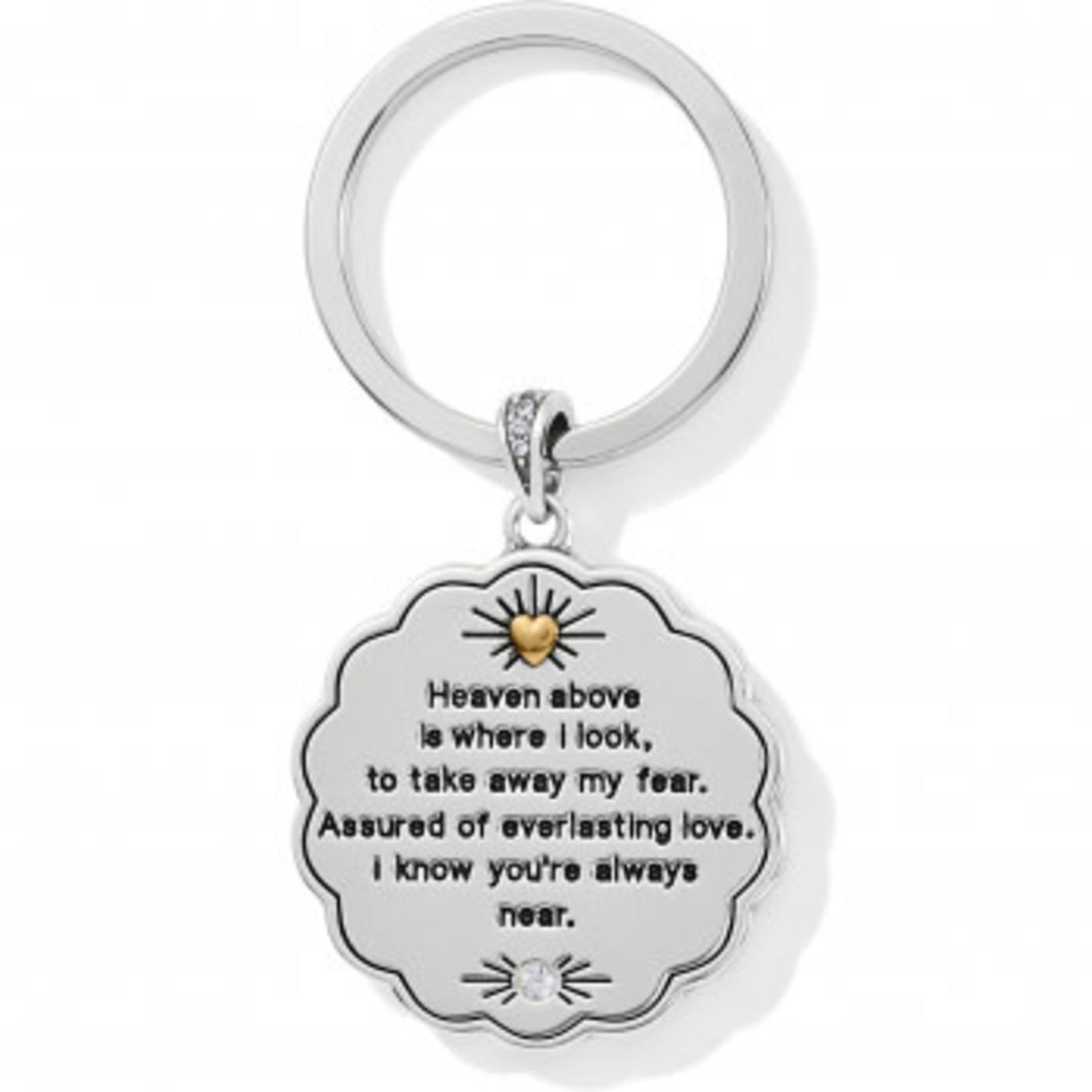 Brighton Celestial Angel Key Fob Silver-Gold