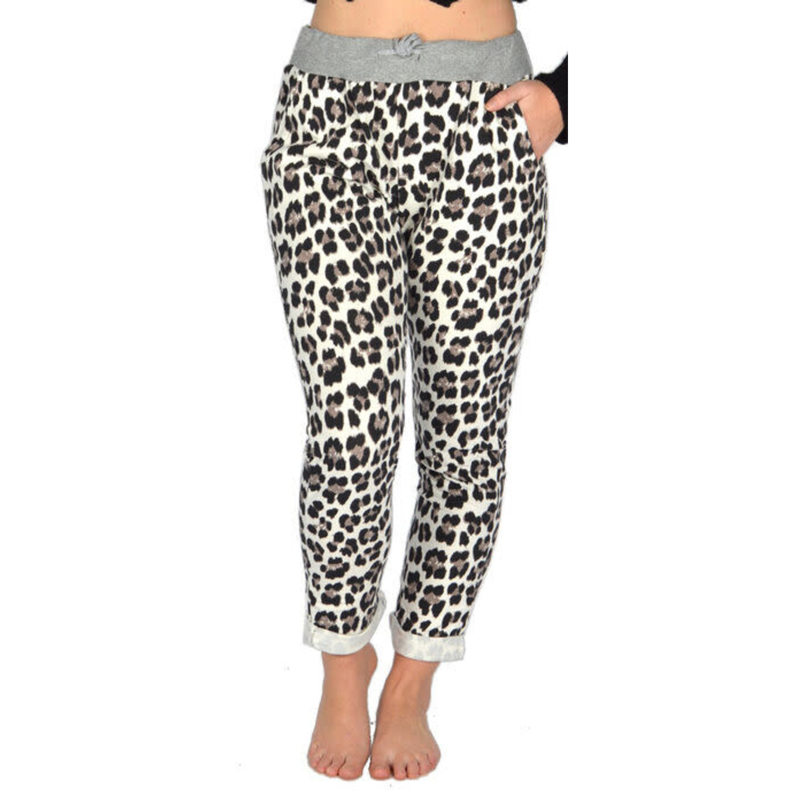 """Catherine Lillywhites Jersey Lounge Around """"Jeans"""" in Leopard"""