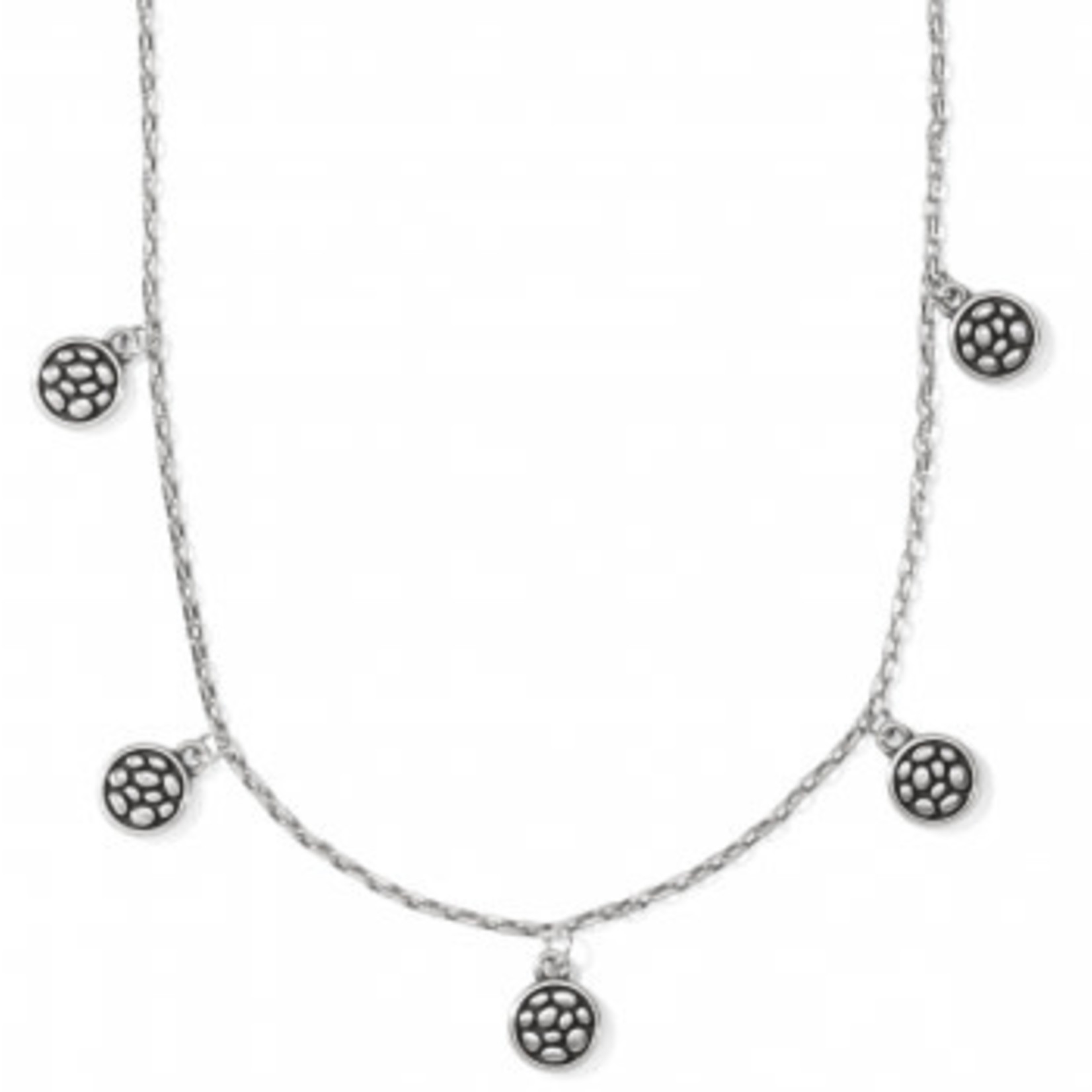 Brighton Pebble Round Droplet Necklace Silver OS