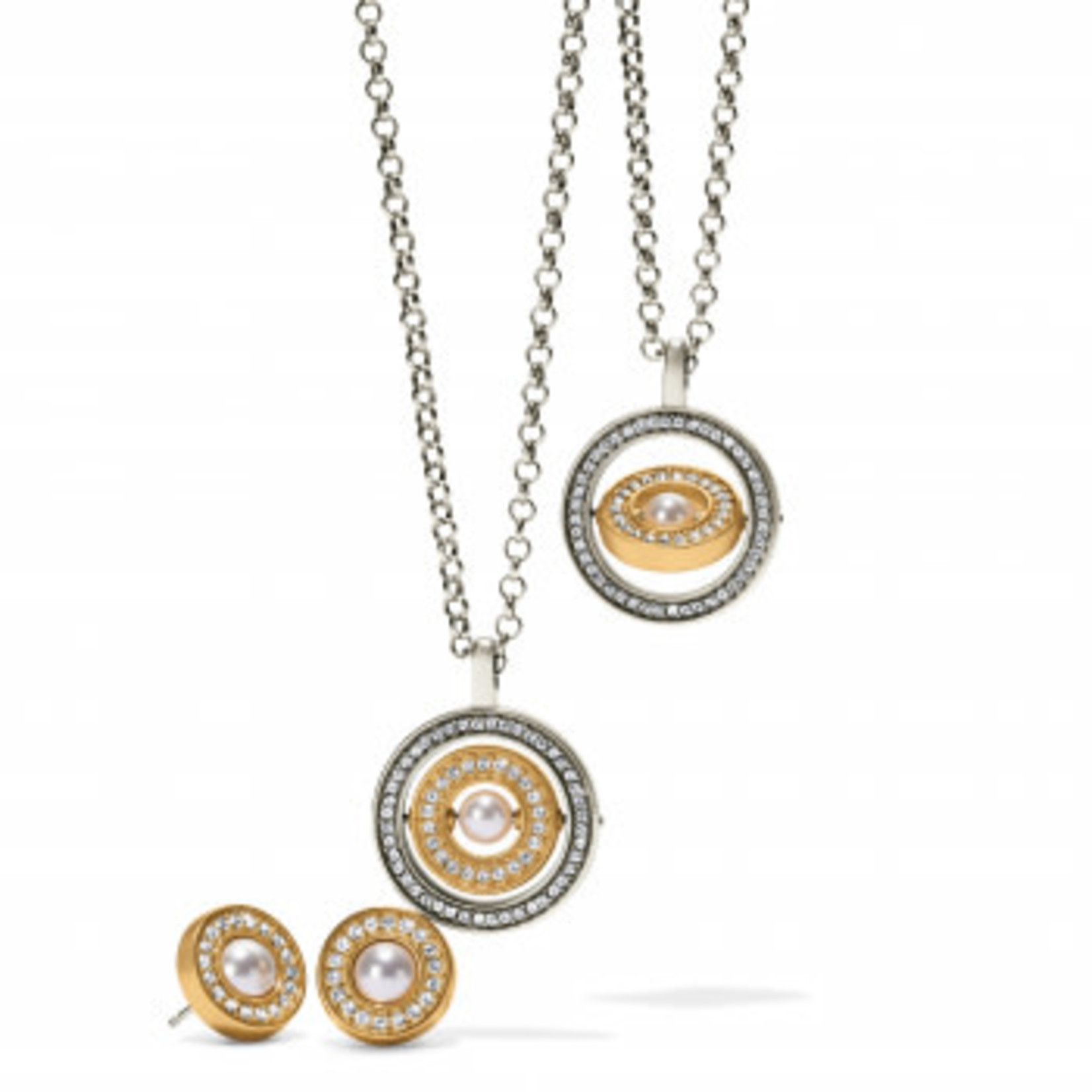 Brighton Meridian Pearl Spin Pendant Silver-Pearl OS