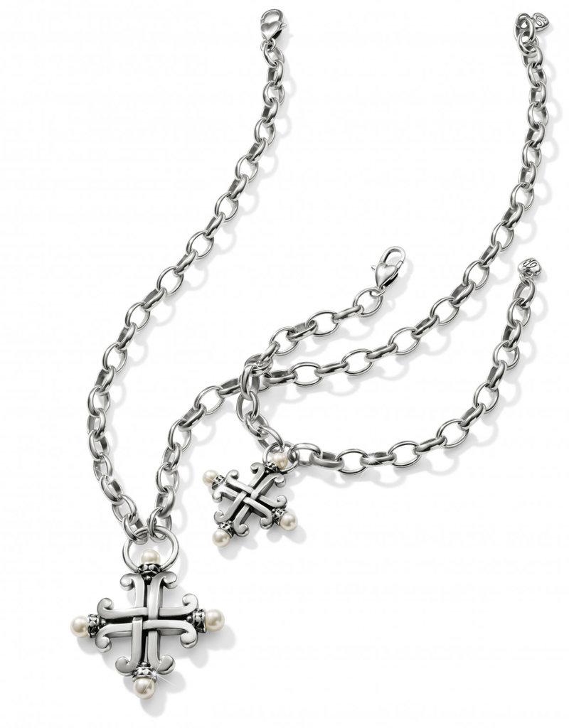 Brighton Taos Pearl Cross Necklace