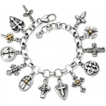 Brighton Sanctum Cross Bracelet S/G