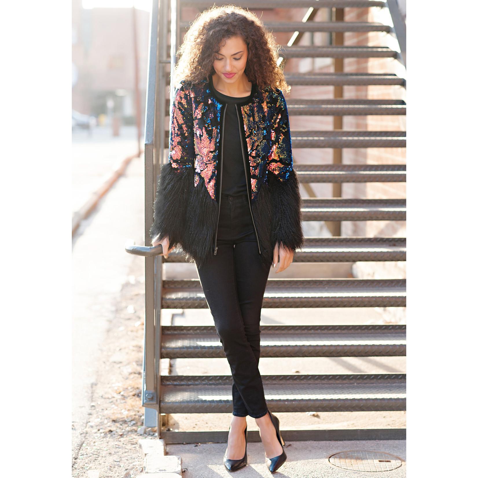 Fabulous Furs Sequin Shimmer Jacket Med