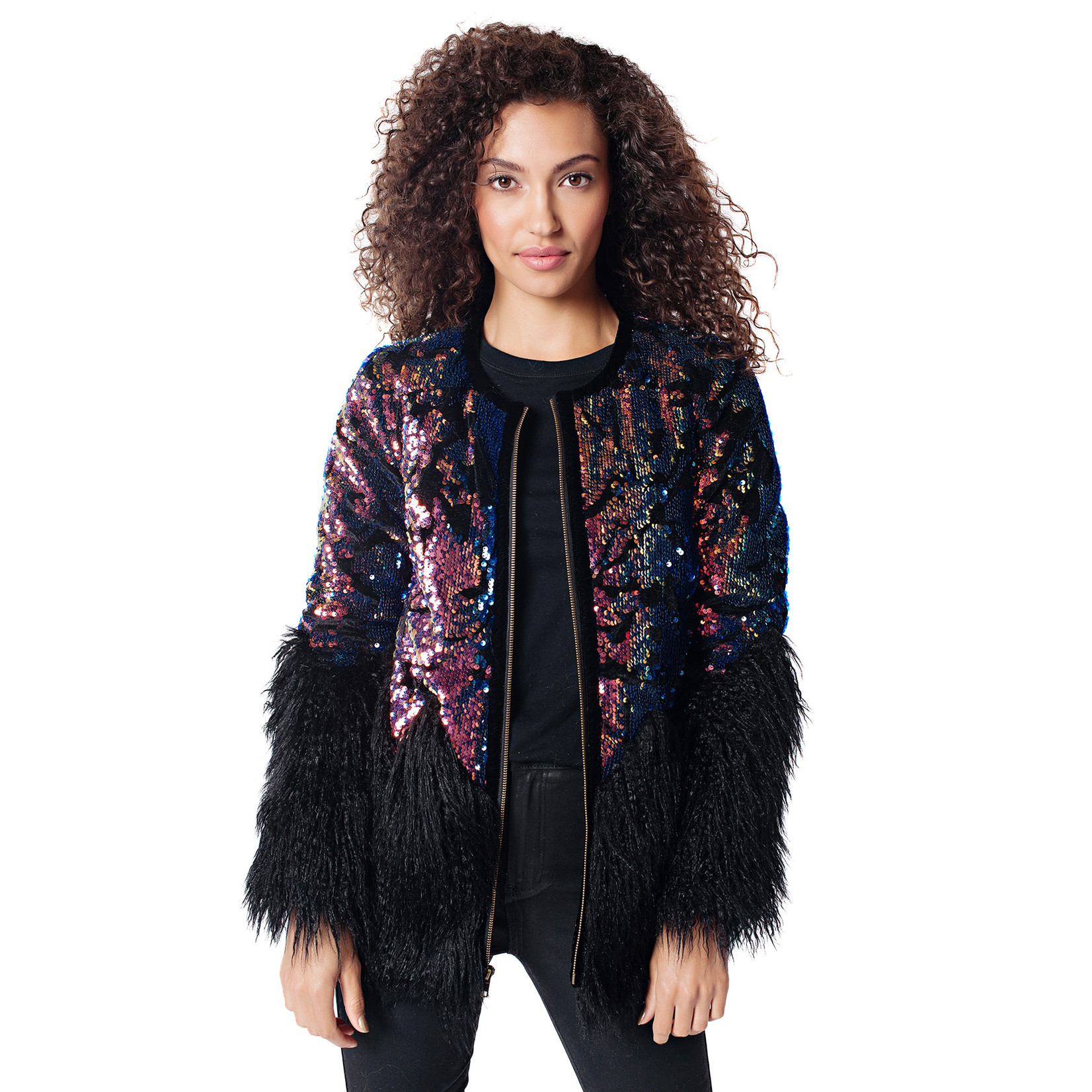 Fabulous Furs Sequin Shimmer Jacket  Sml