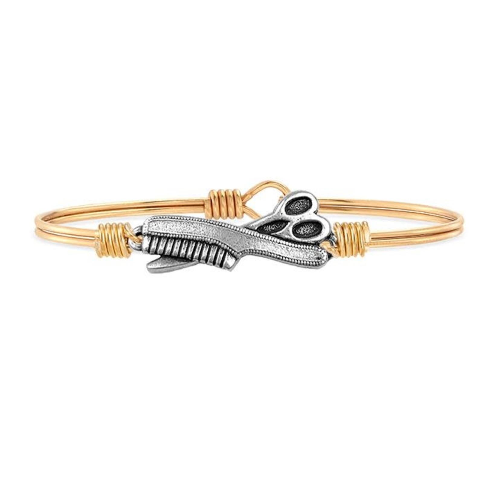 Luca+Danni Hair Stylist Bangle Bracelet Brass Tone - Regular