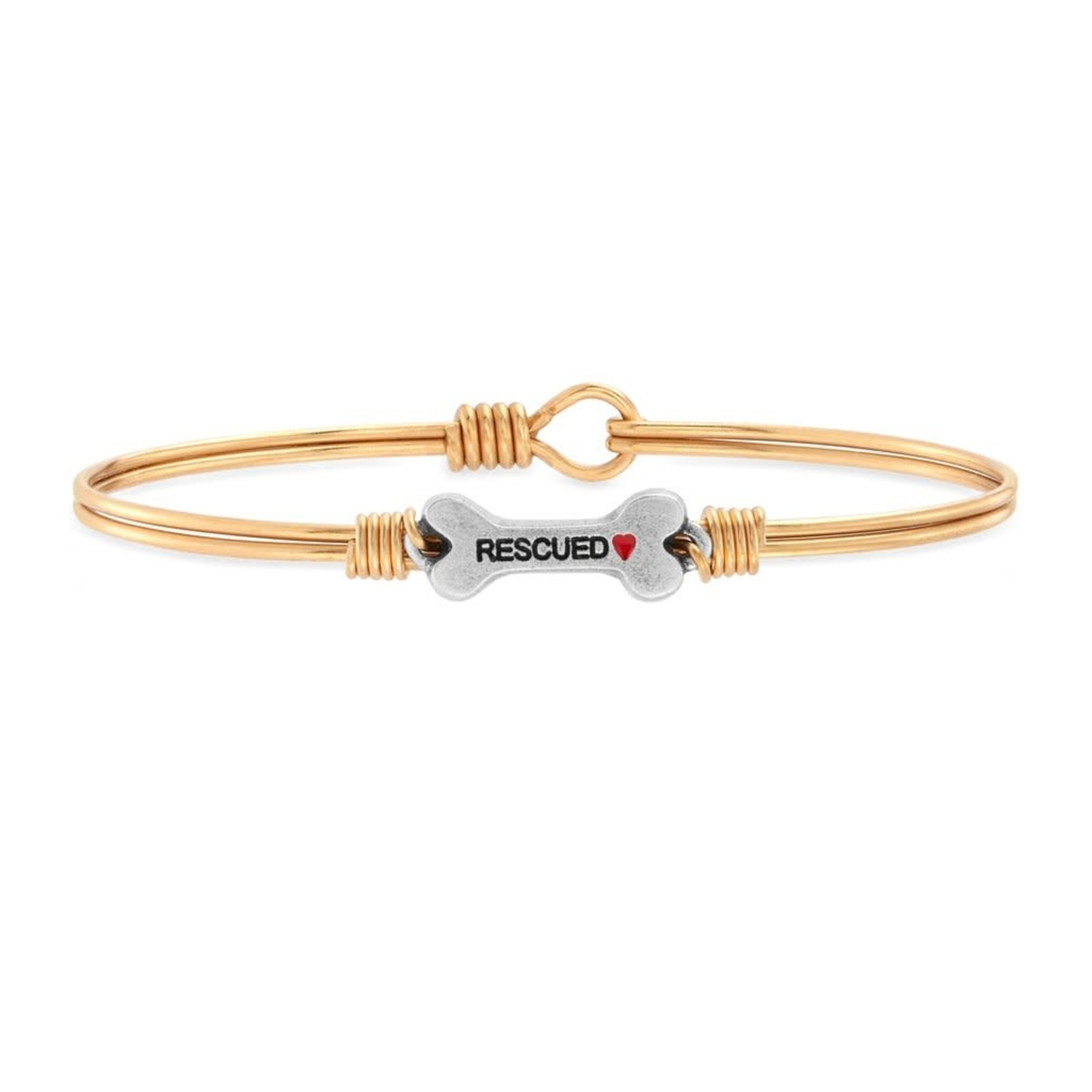 Luca+Danni Animal Rescue Bangle Bracelet Brass Tone - Regular