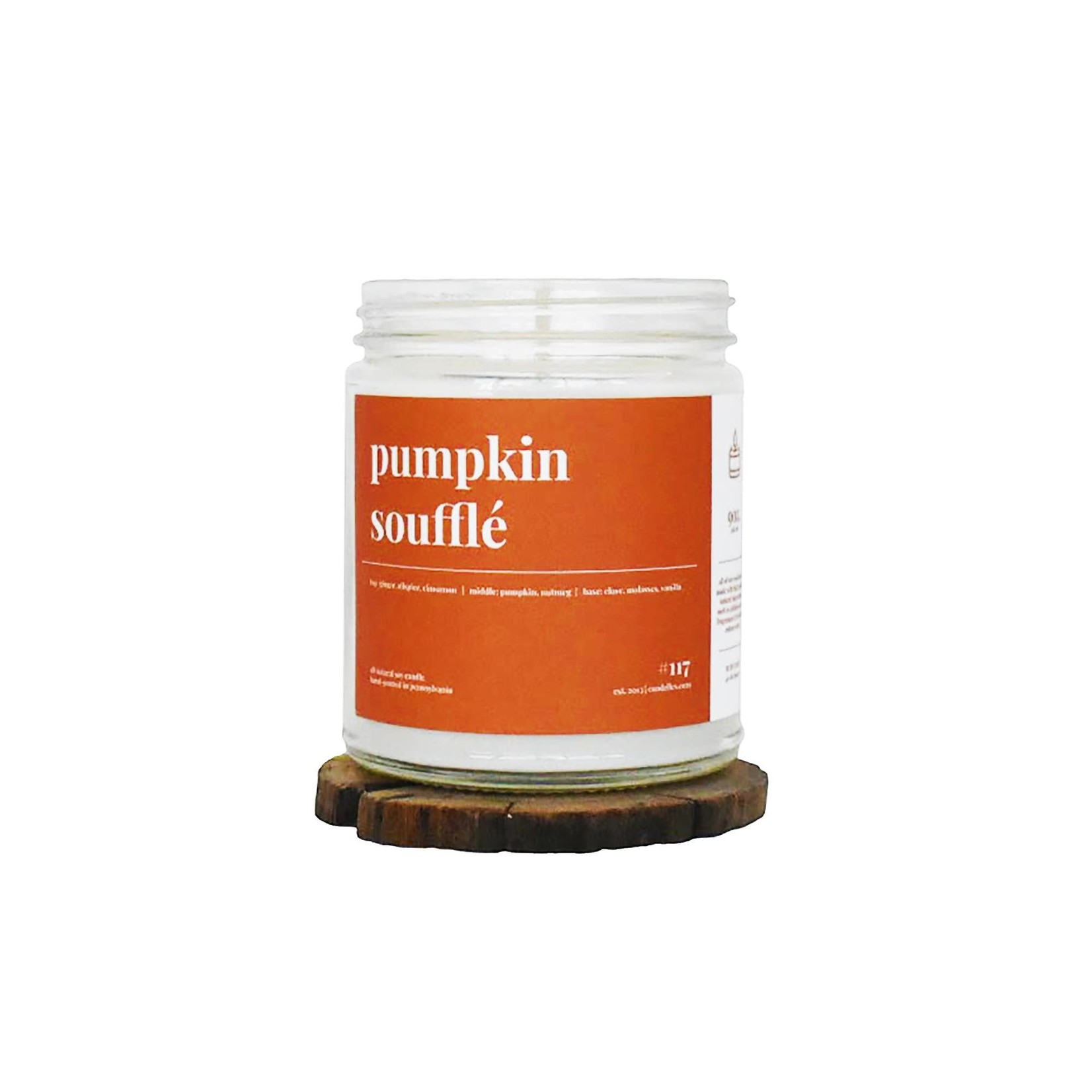 Candelles Soy Candles Scented Soy Candle 9 oz - Pumpkin Souffle