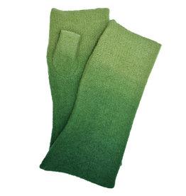 100% Boiled Wool Ombré Fingerless Gloves