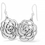 Brighton The Botanical Rose French Wire Earrings Silver