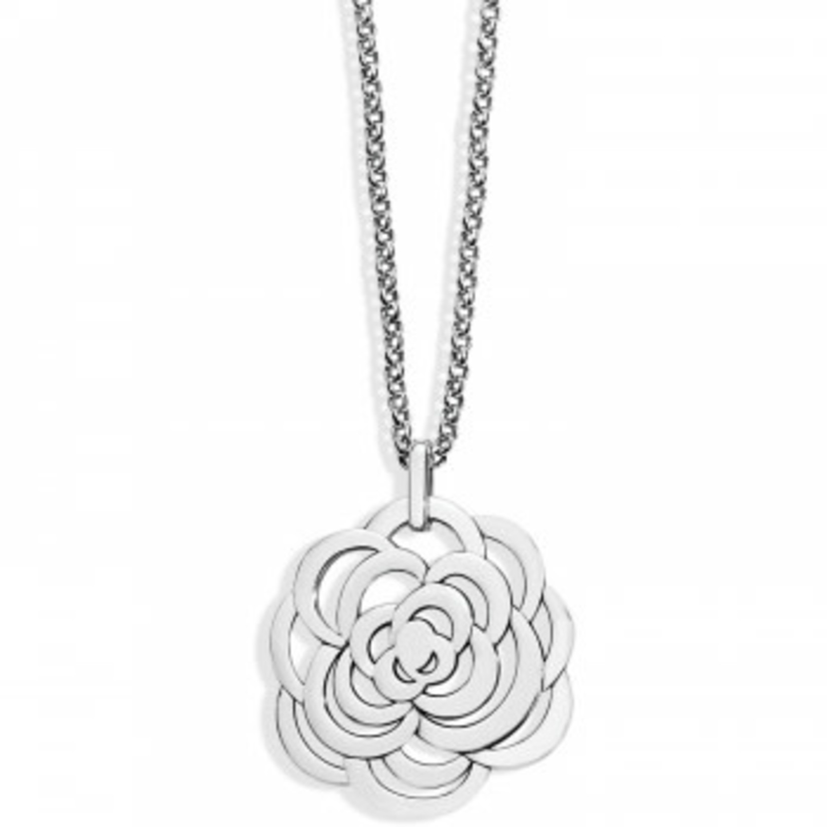 Brighton The Botanical Rose Convertible Necklace Silver