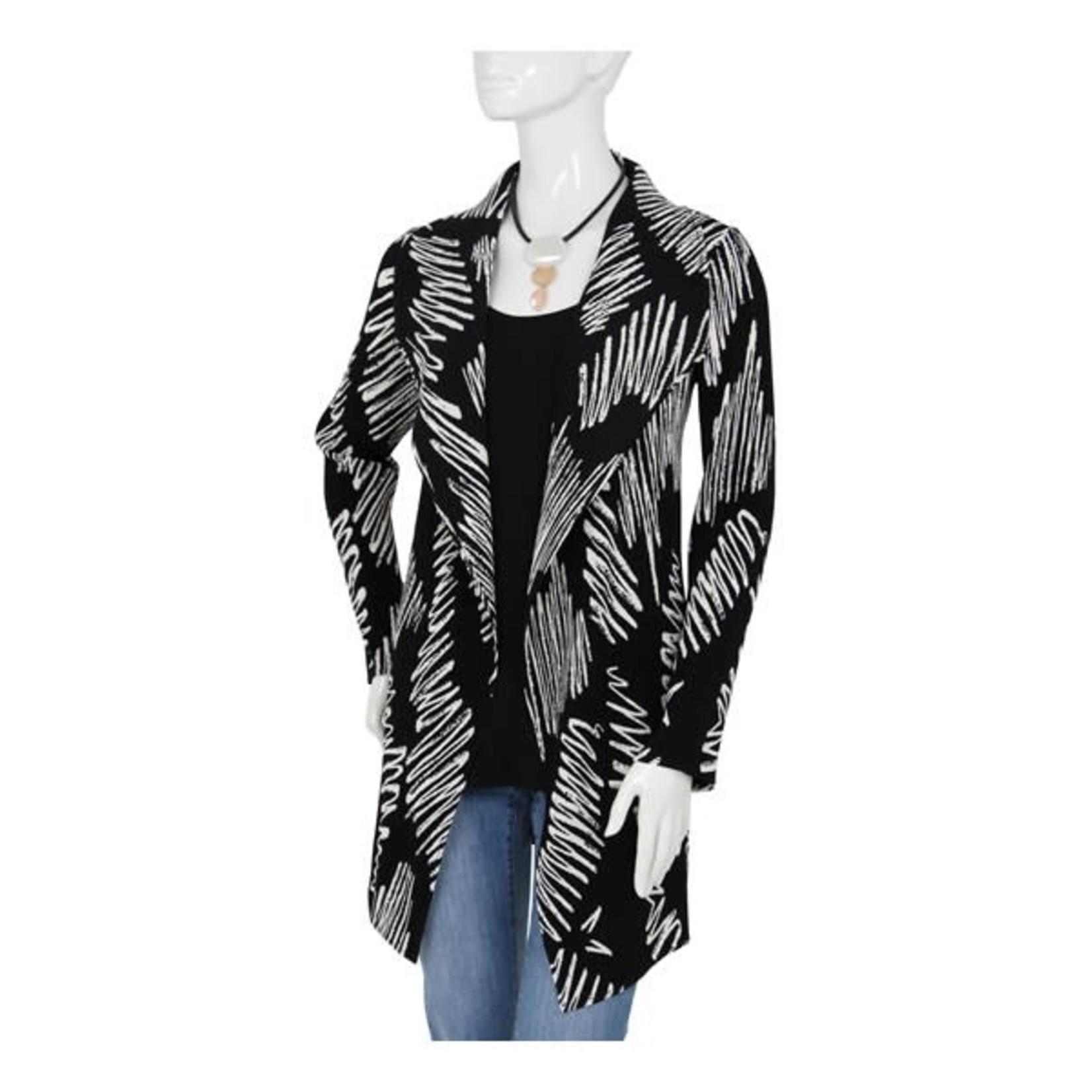 Black Crinkle Jacket w/ Off White Squiggles/No Closure