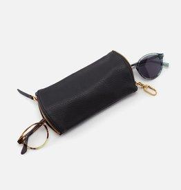 HOBO Spark Black Soft Hide Leather Eyeglass Case