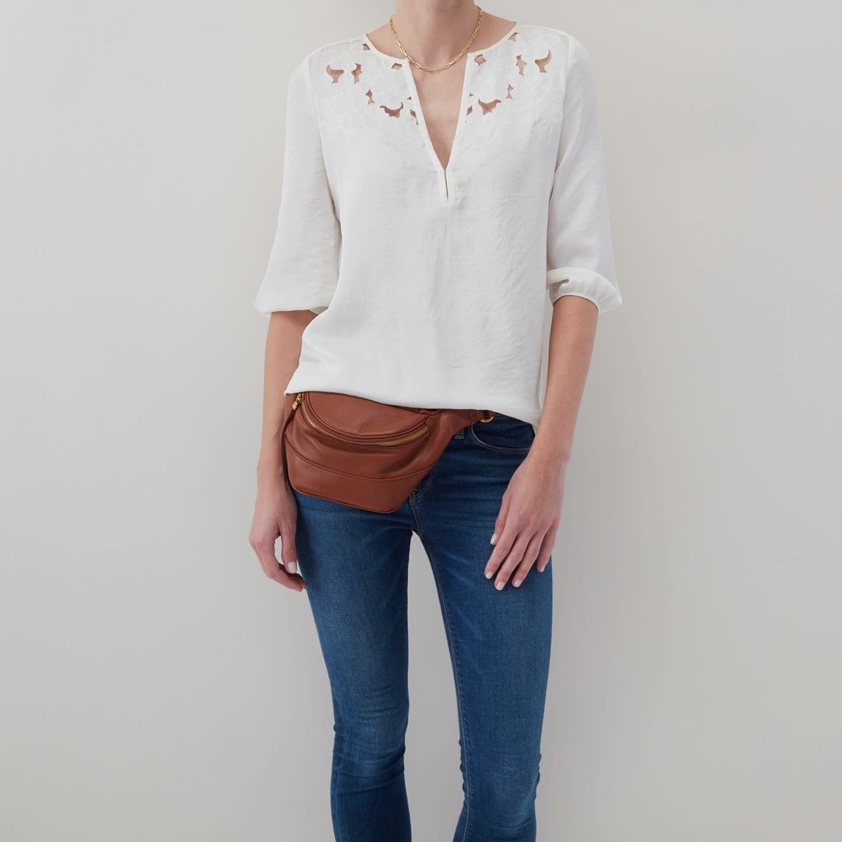 HOBO Jett Toffee Soft Hide Leather Fanny Pack
