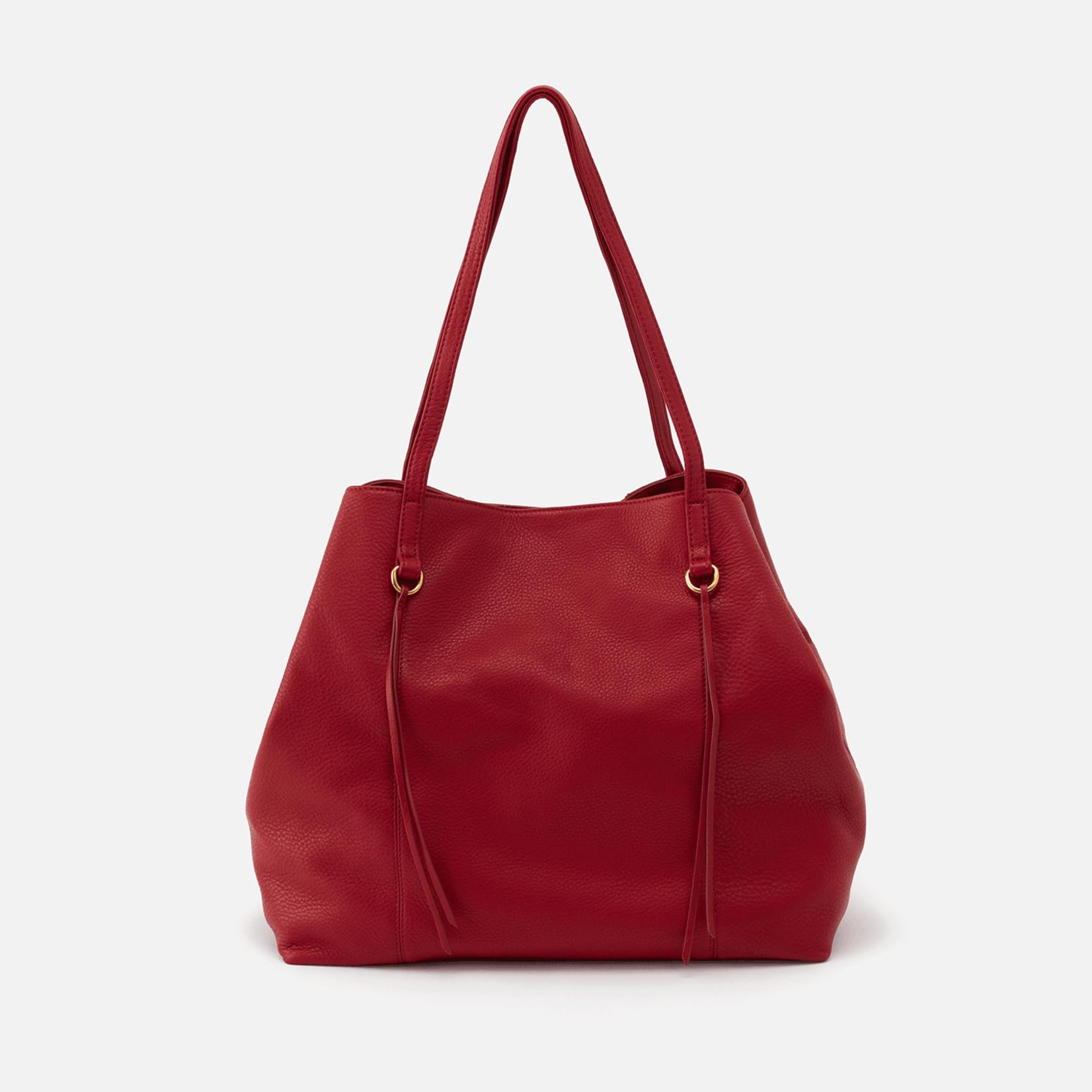 HOBO Kingston Scarlet Leather Tote