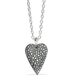 Brighton Glisten Heart Convertible Necklace Silver OS