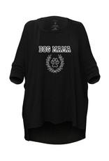 "Los Angeles Trading Co ""Dog Mama"" One Size Black Tee"