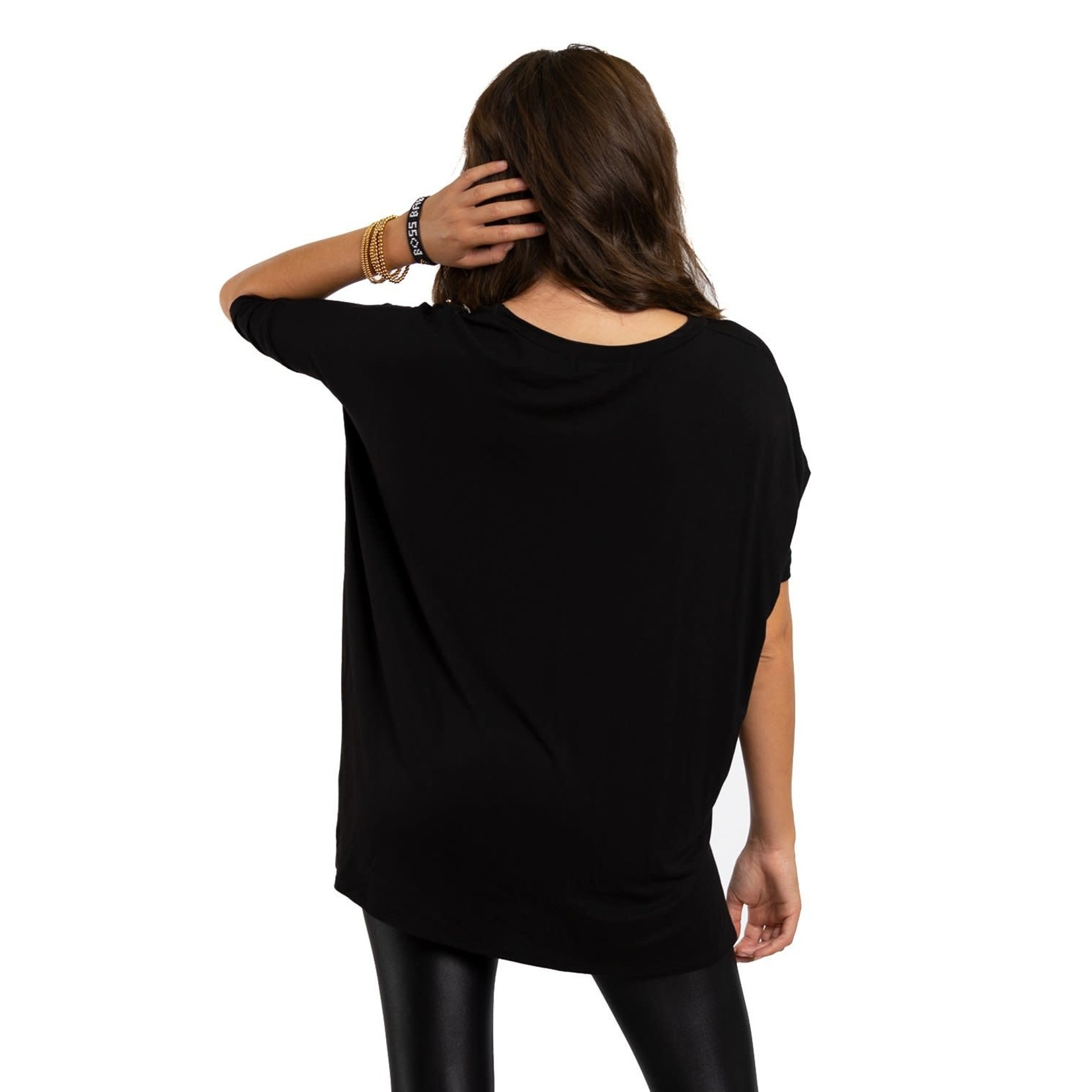 Los Angeles Trading Co Boss Babe One Size Tee in Black