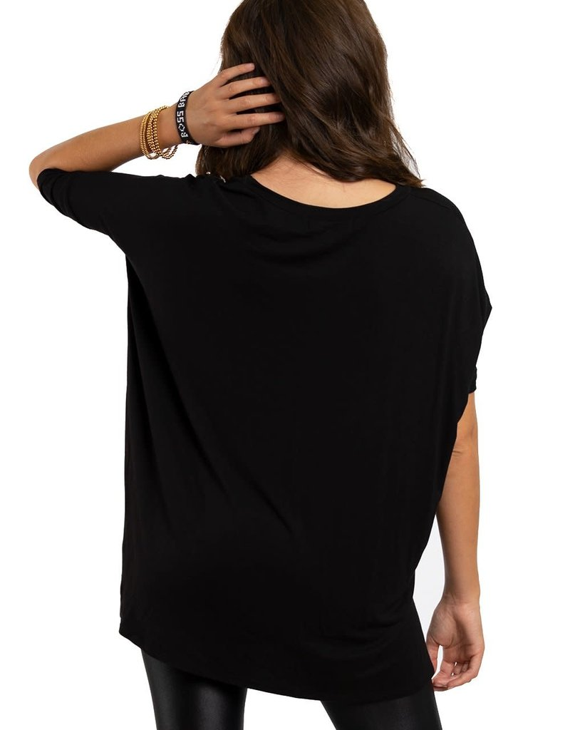 """Los Angeles Trading Co """"Boss Babe"""" One Size Tee - Black"""