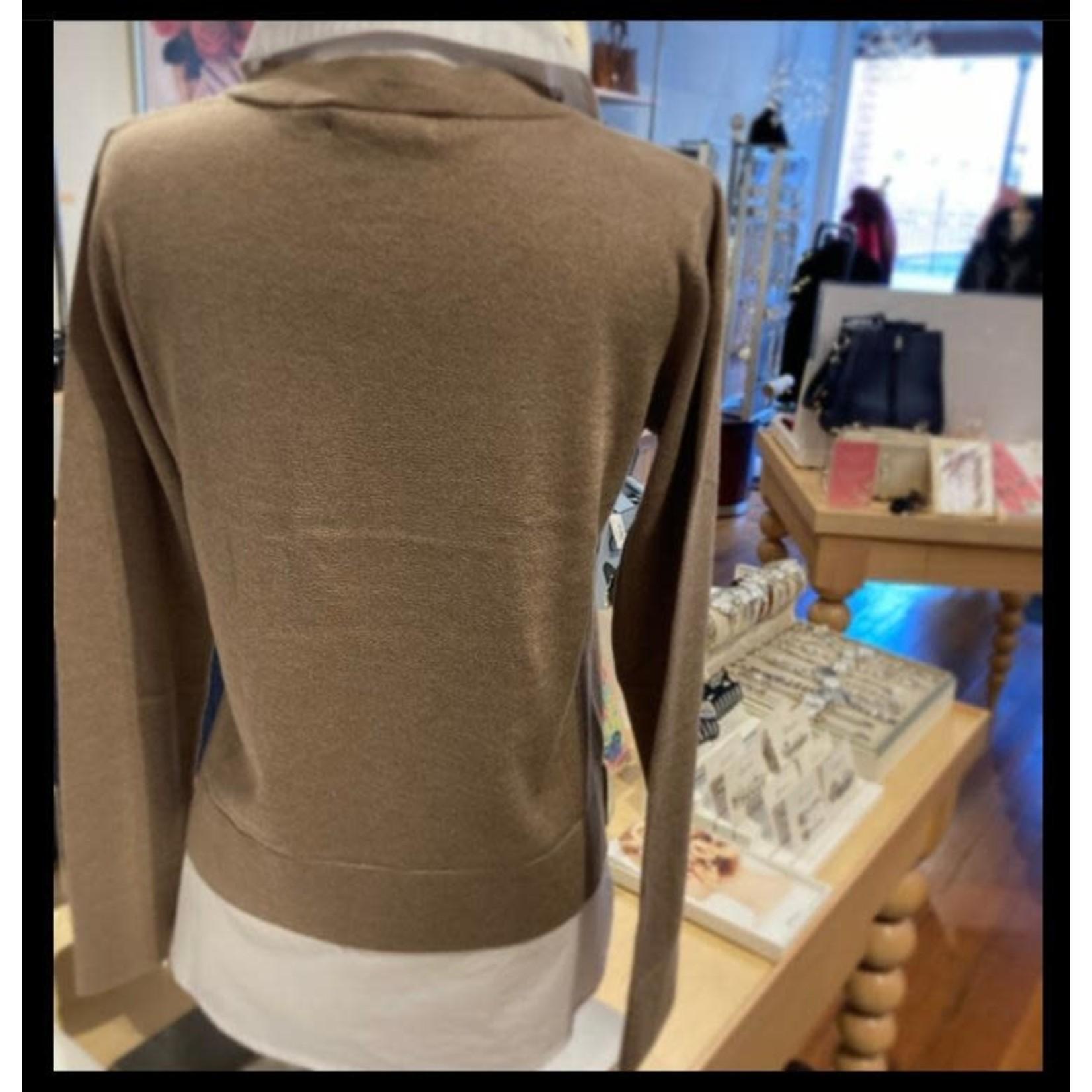 Alashan Cashmere Montage Shirttail Sweater - Natural