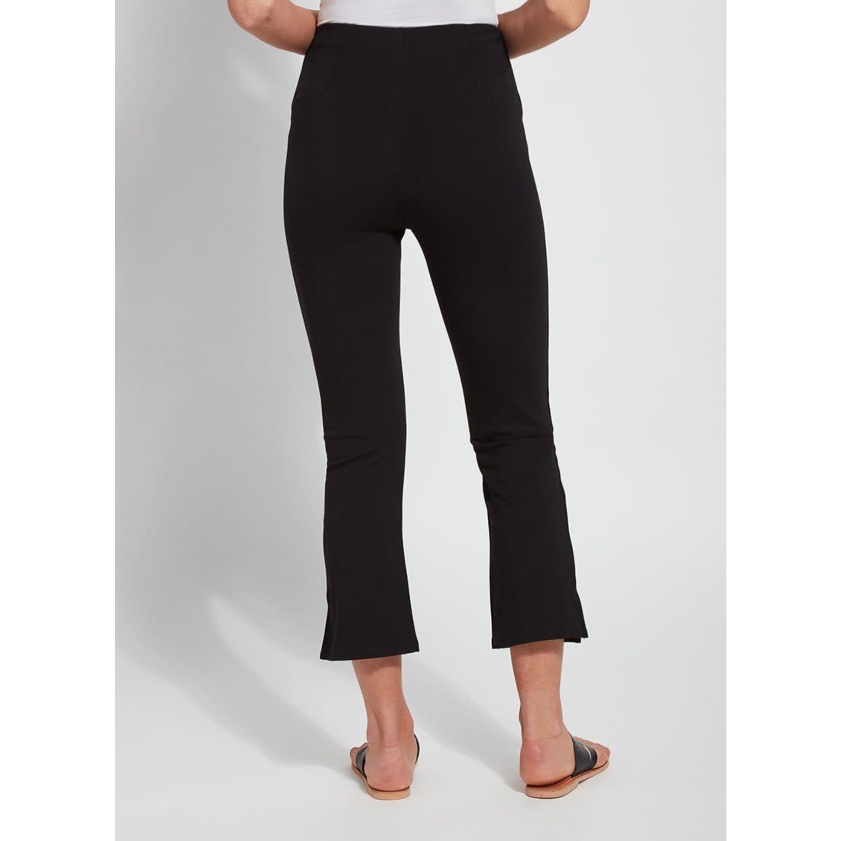 Cropped Kick Flare Pant in Black