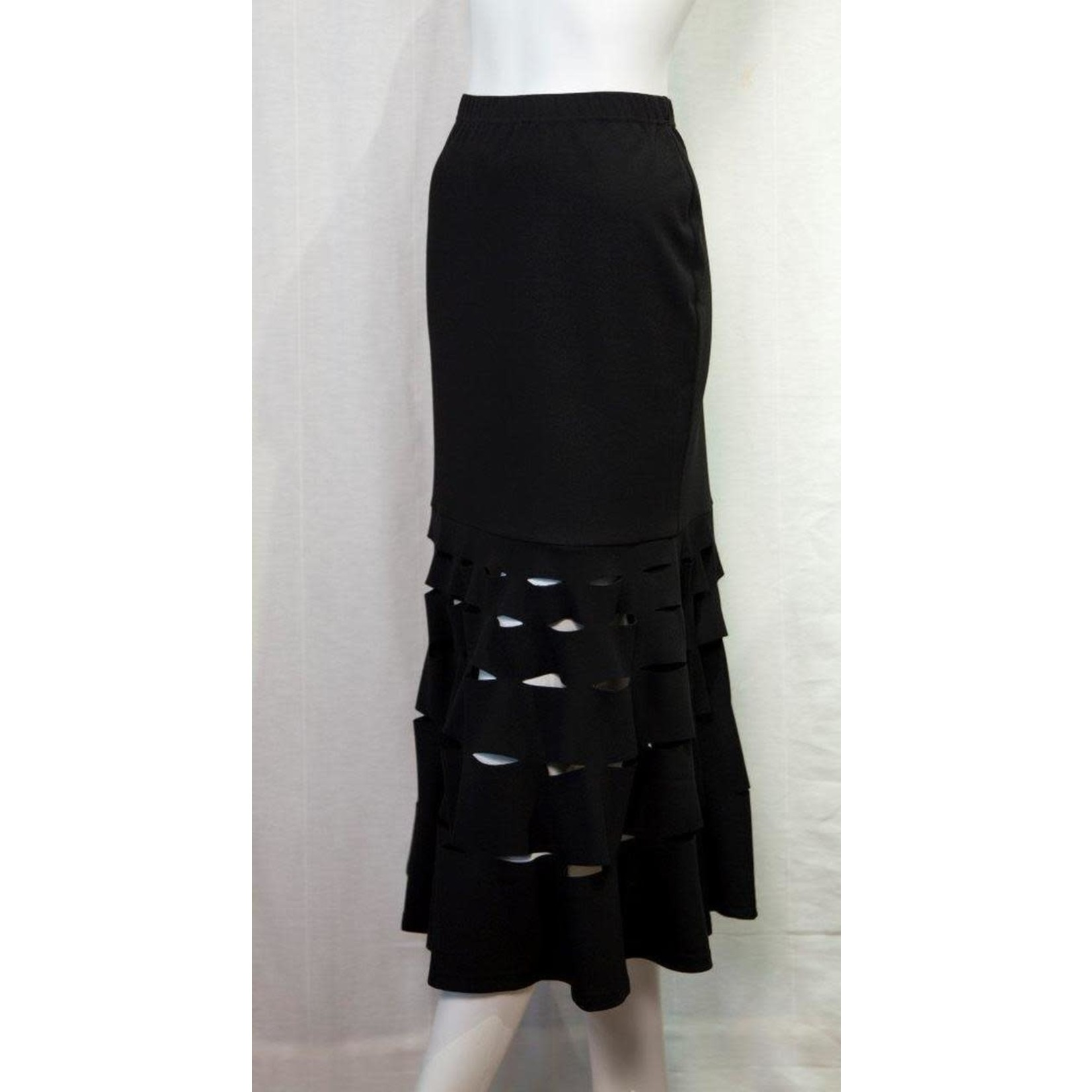 Samuel Dong Knit Crepe Laser Cut Skirt