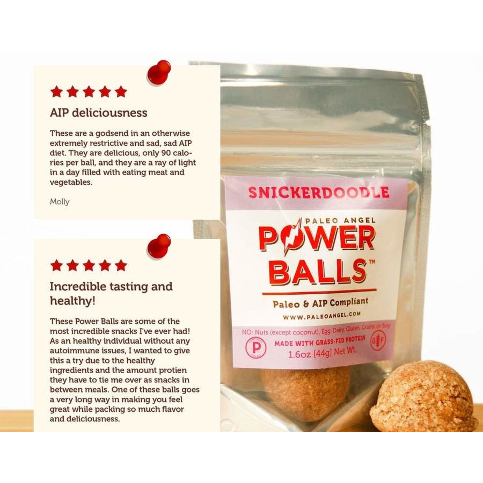 Snickerdoodle Protein Balls Snack Pack