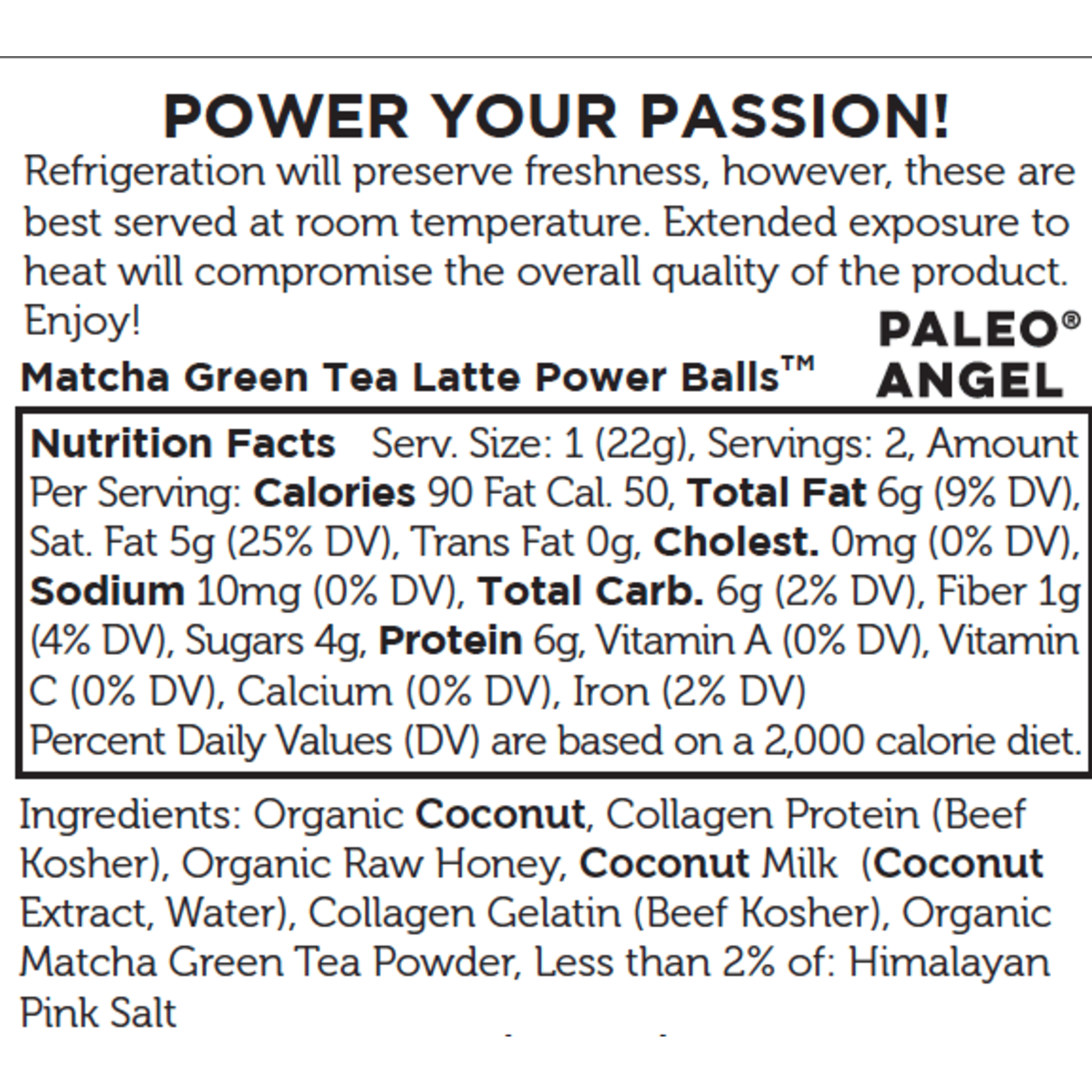 Matcha Latte Protein Balls Snack Pack