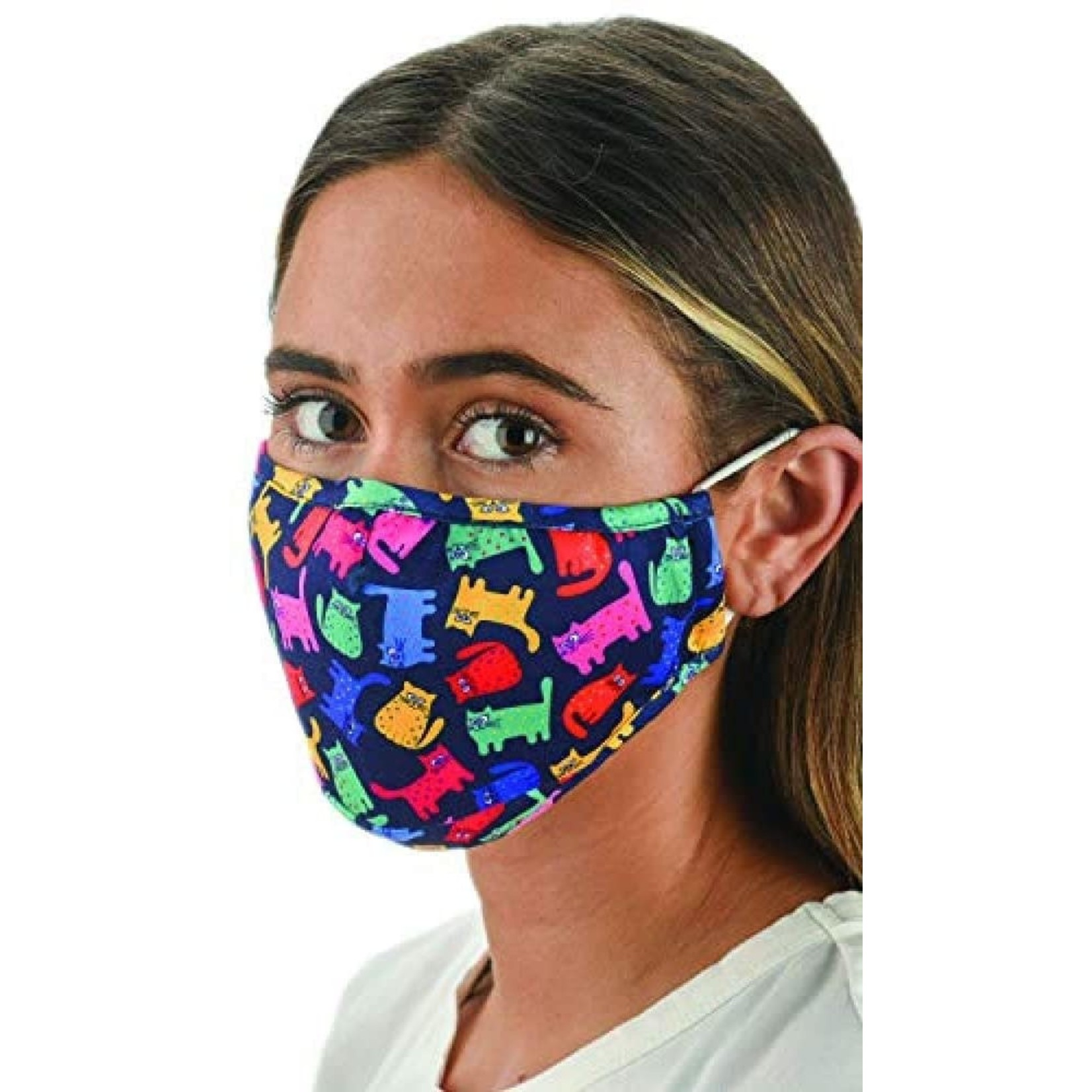 Snoozies Brightly Colored Cats Face Mask