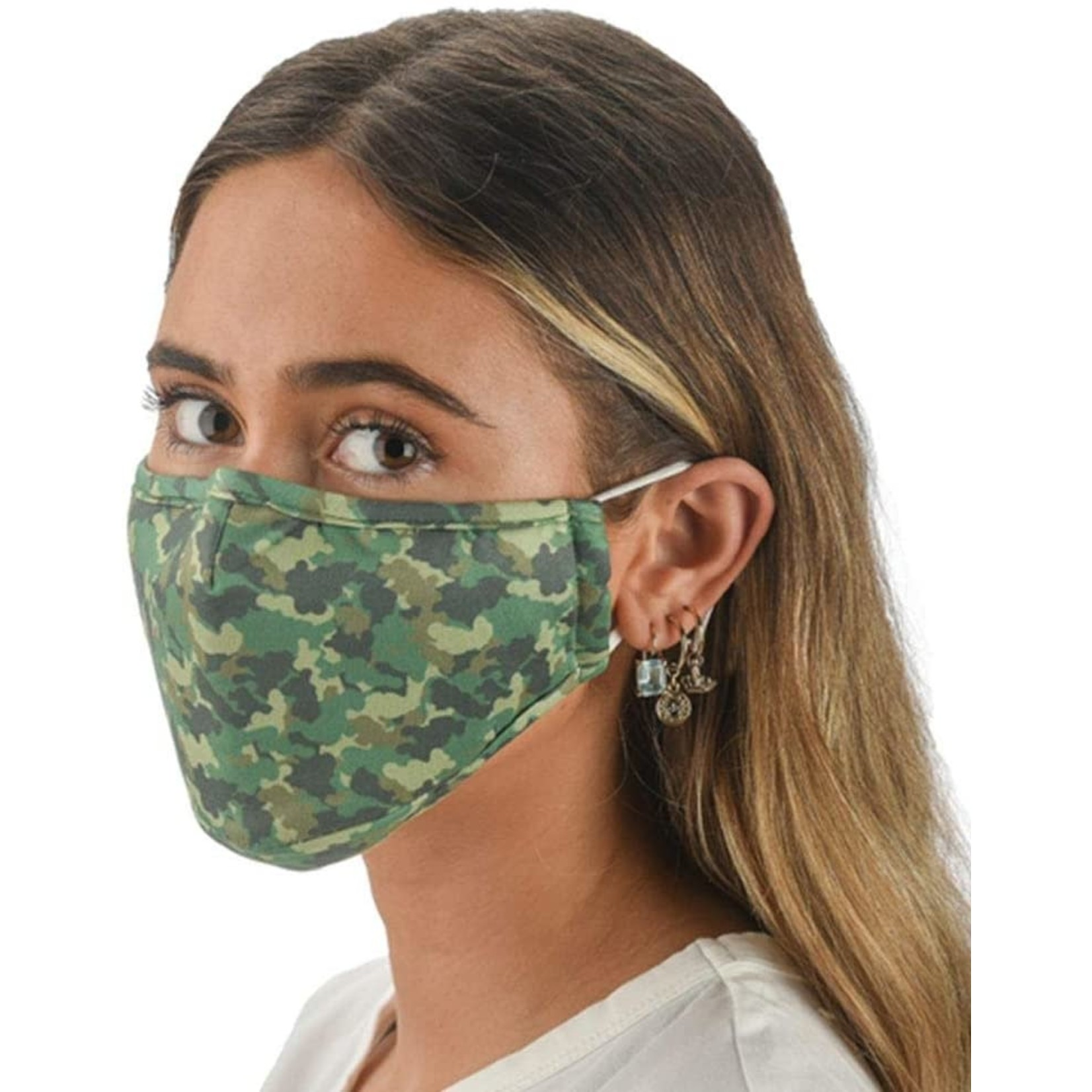 Snoozies Snoozies Green Camo Face Mask