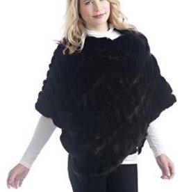 Fabulous Furs Onyx Mink Couture Poncho