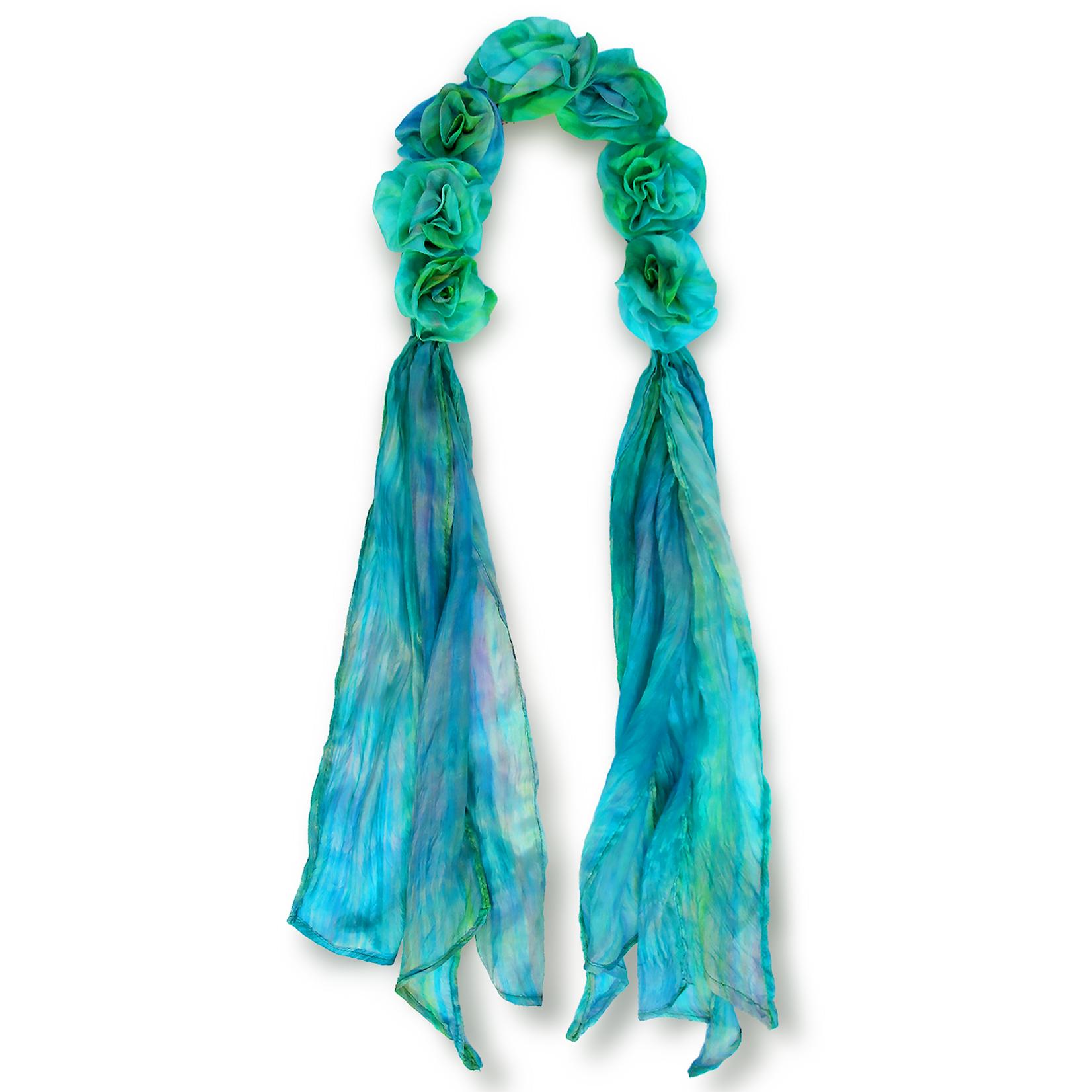 Lua 100% Silk Petals Scarf - Dew