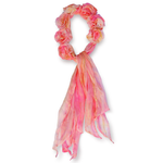 Lua 100% Silk Petals Scarf - Blush