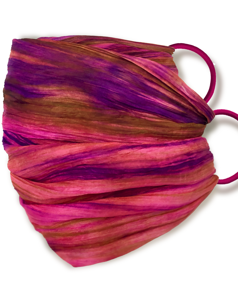 Lua 100% Washable Silk Adjustable Mask - Magenta