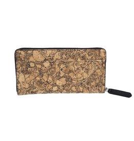 Queork Chunk Cork Wallet w/ Silver Hardware