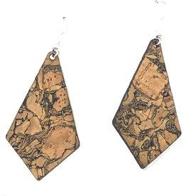 Queork Chunk Cork Geometric Earrings