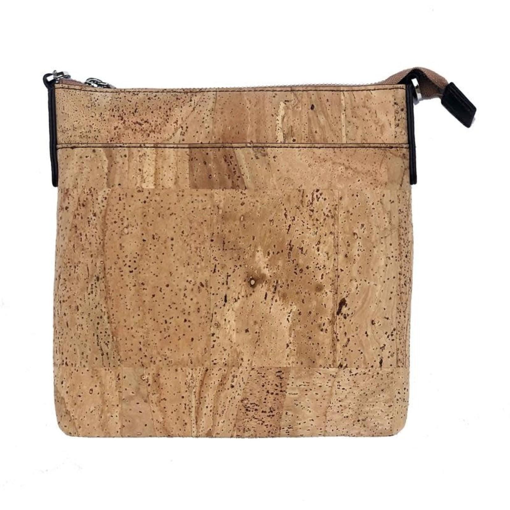 Queork Lafayette Natural Square Pouch Bag
