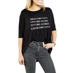 Los Angeles Trading Co Dress Like Coco One Size Tee in Black