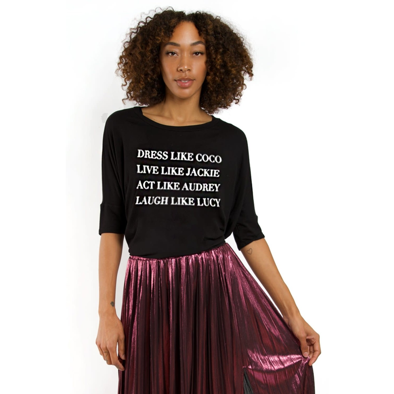 """Los Angeles Trading Co """"Dress Like Coco"""" One-Size BlackTee"""