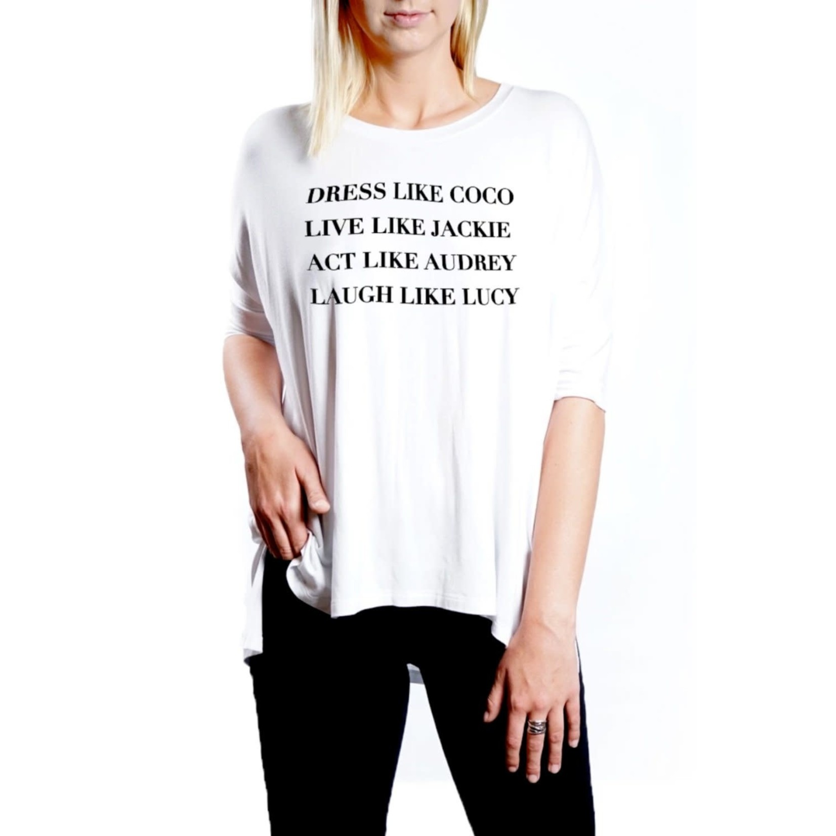 """Los Angeles Trading Co """"Dress Like Coco"""" One-Size White Tee"""