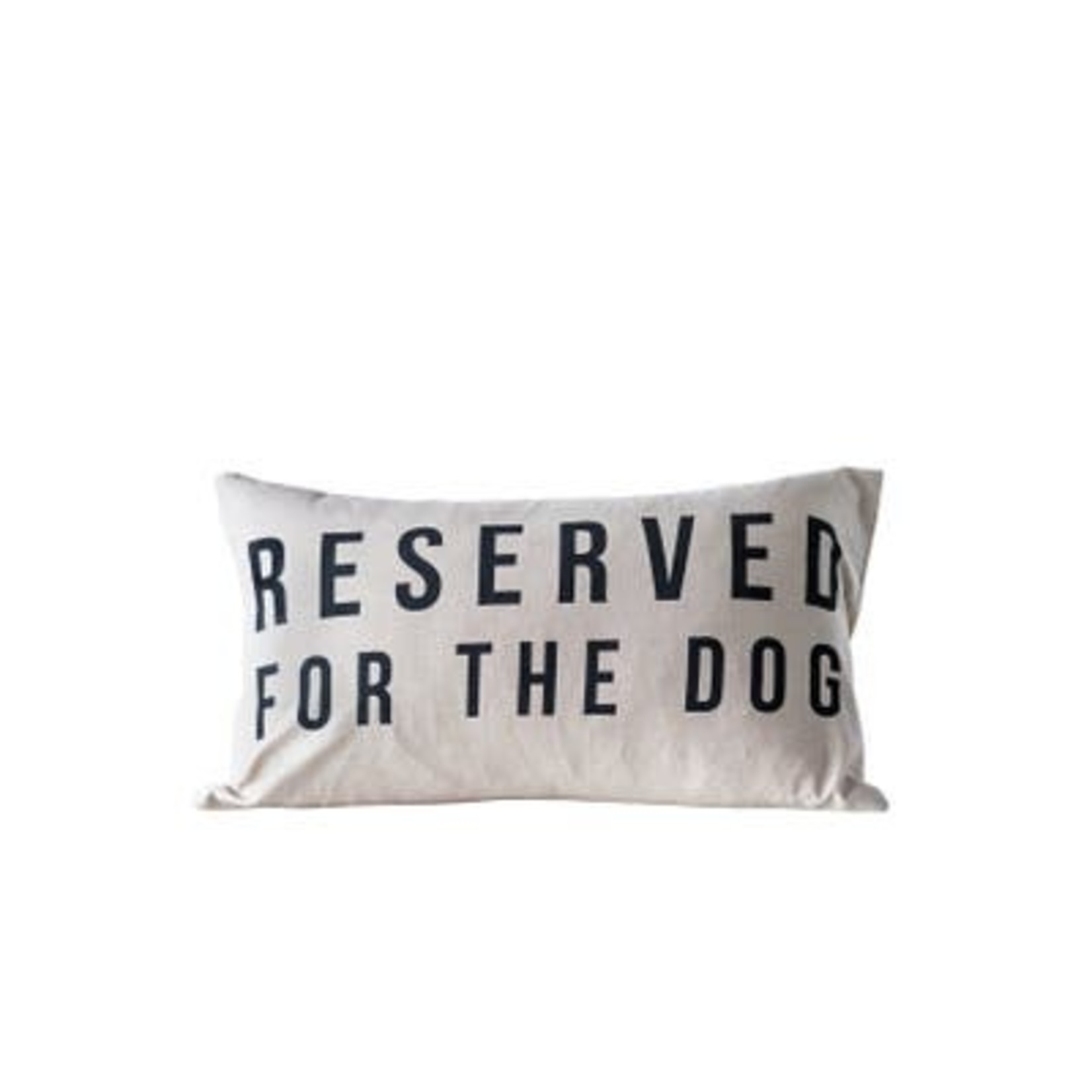 Reserved For The Dog Cotton Pillow