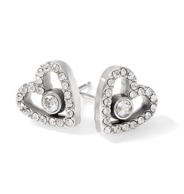 Brighton Illumina Love Post Earrings Silver OS