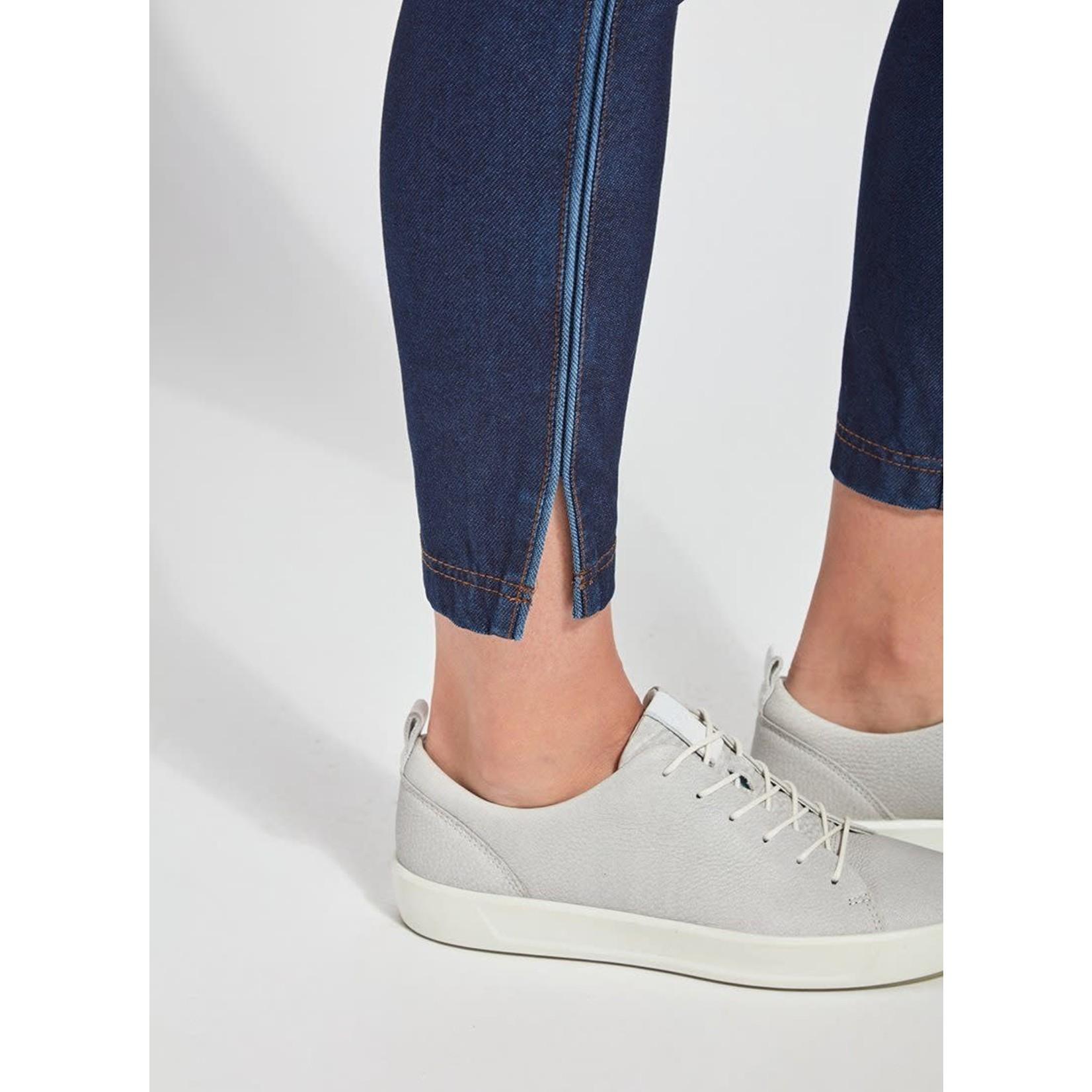 Park Legging w/ Side Ankle Slits - Indigo