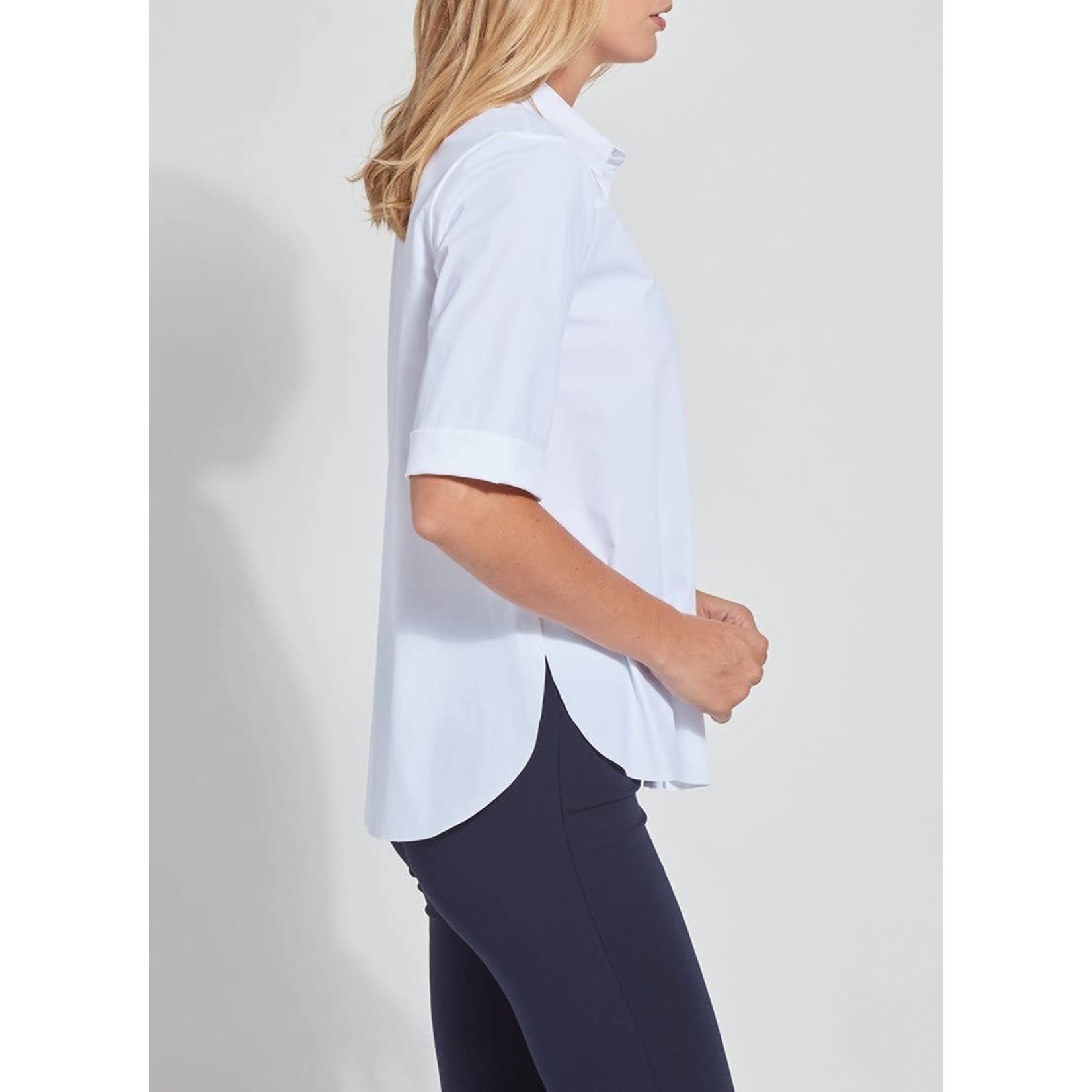 Josie Short Sleeve Button Down Shirt - White