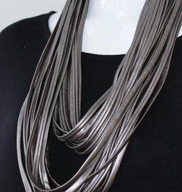Necknots London Fog Pewter Infinity Scarf Necklace
