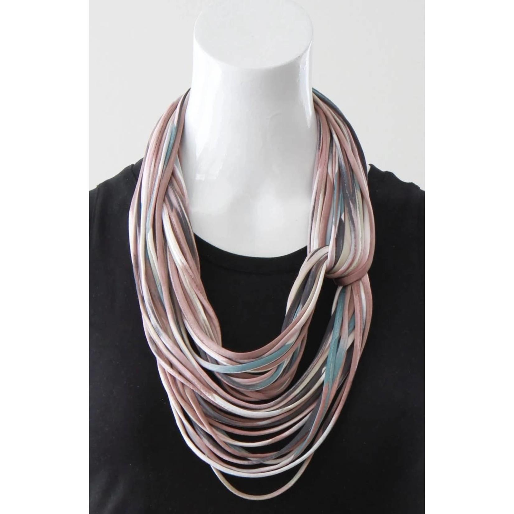 Necknots Blush Ombre Mauve Infinity Scarf Necklace