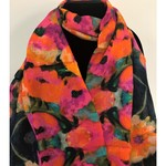 Nina J Wild Poppies Cotton Scarf