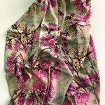 Nina J Purple Azalea Cotton Scarf
