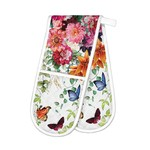 Michel Design Works Sweet Floral Melody Double Oven Glove